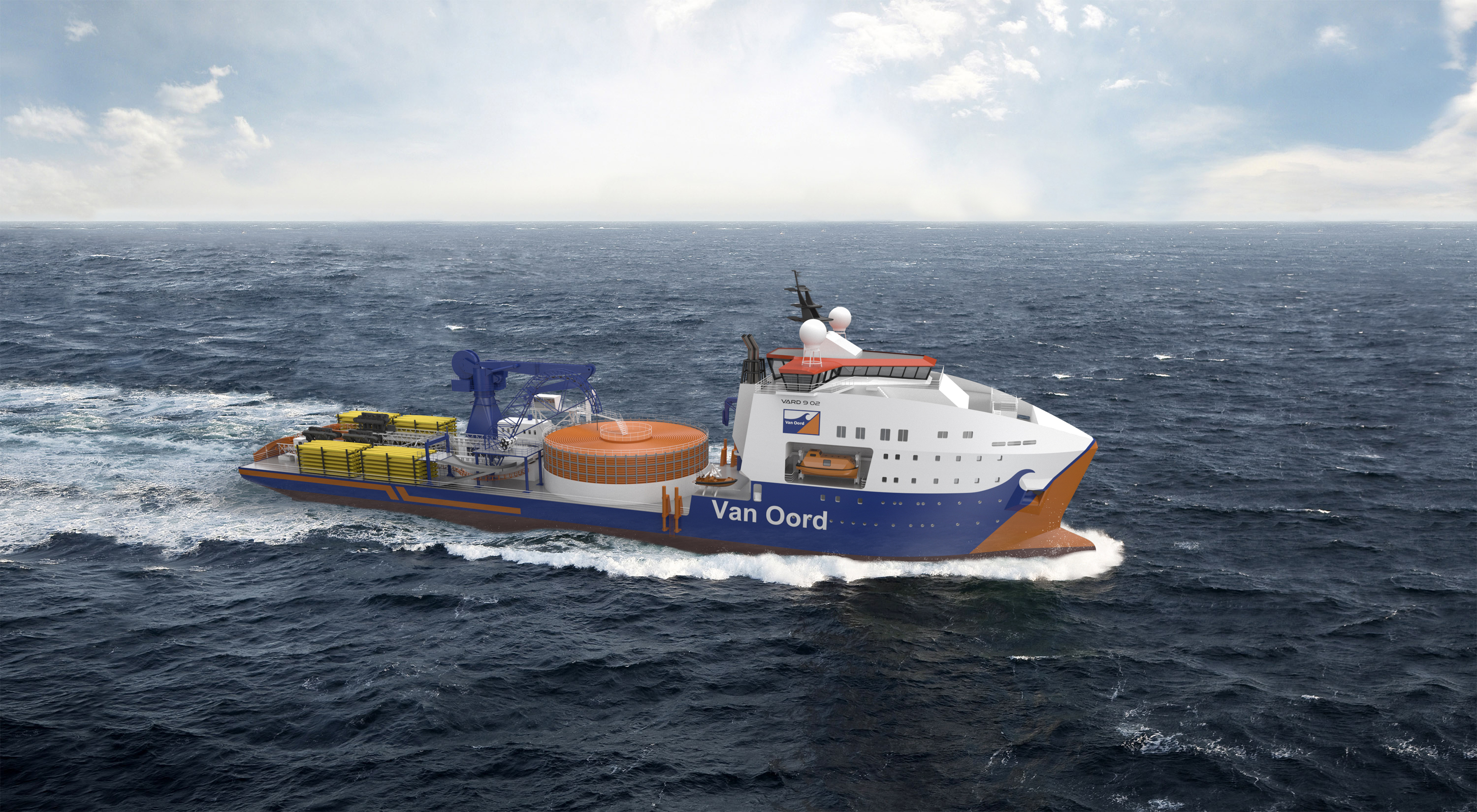 Vard orders Red Rock Offshore Crane for new Cable Laying Vessel